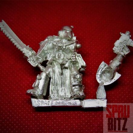 Space Marine Veteran with Chainsword Beaky (metal)